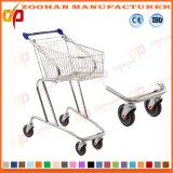 Luxuxsupermarkt-Einkaufswagen mit Korb (Zht70)