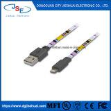 Mfi電光8 Pinの平らなワイヤーiPhone 6及びプラス6のための充満データ同期信号ケーブル