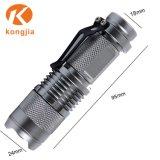 Keychain Aluminium-LED Fackel-Licht-Taschen-Schlüsselring-Minitaschenlampe