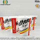 Taza de papel impresa nuevo diseño con la tapa para el café