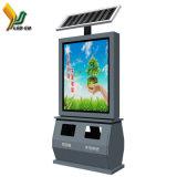 Guangdong Bom Preço alimentada a energia solar display LED de publicidade caixote do lixo