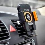 El coche universal de Qi monta el cargador sin hilos para Smartphone y el iPhone 8 compatible