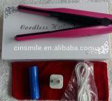 Pequenas Viagens de ferro plana sem fio Mini Pocket alisador de cabelo modelador 2 em 1 ferro plana recarregável USB