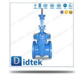 Válvula de porta aparafusada manual inteiramente guiada da capota de Didtek
