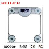 échelle en verre claire carrée de santé de machine de pesage de corps de 200kg Digitals