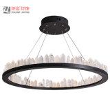 De moderne Lamp van de Tegenhanger van de Ring van het Kristal van de Cirkel van het Metaal voor Hotel