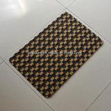Fil coupe antiglisse pieu Wear-Resisting Jacquard paillasson Wearproof Tapis d'entrée avec le soutien de PVC