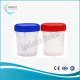 Tazza di plastica dell'urina con il coperchio a vite