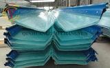 Folha de coberturas de plástico corrugado de PRFV 2,0mm Painel de parede transparente
