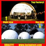 De duidelijke Transparante Witte Tent Fastup van de Koepel van de Schuilplaats van pvc Reuze