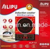 Kocher der Induktions-2200W mit blauem LED-und Sprachfunktions-Modell ALP-12