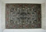 Hermosa alfombra de seda pura Hand-Knotted