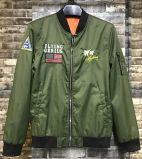 Jaqueta de vôo de homens verdes de moda com alta quolidade borda