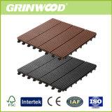 Decking en plastique en bois Anti-UV et respectueux de l'environnement du composé DIY