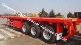 3つの車軸トラックシャーシが付いているCimc 40FTの半トラックの平面トレーラー