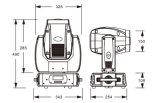 Étape de dégagement de stock Mini lumière 2R 120W Déplacement du faisceau de la tête