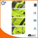 黄色く高い可視性の反射安全ベストはANSI/Iseaの標準に合う