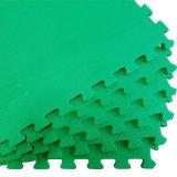 De goedkope Mat van het Schuim van EVA van de Textuur van de Prijs Grote recycling Geborstelde Groene