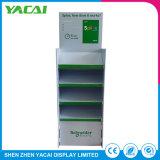Piso de reciclado de los documentos en papel del contador de Rack de soporte de pantalla para el sector minorista