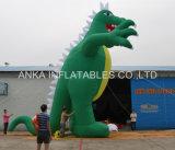 광고를 위한 거대한 현실적 모형 팽창식 공룡