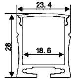 4211 Profil de LED en aluminium pour bande LED