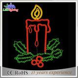 Motif de vacances joli motif de Noël 2D de la décoration des feux de bougie