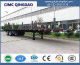 Boggie 현탁액 트럭 포좌를 가진 반 Cimc 40FT 평상형 트레일러 트럭 트레일러