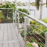 Pêche à la traîne de câble personnalisée par qualité d'acier inoxydable pour le balcon