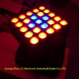 25PCS 10W 크리 사람 4in1 LED 매트릭스 이동하는 맨 위 빛