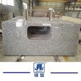 Swan préfabriqué comptoir en granit gris blanc pour la cuisine et salle de bains