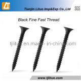 Bugle Head Fine Thread Screw phosphate noir