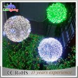 クリスマスLEDの装飾は商業3Dモチーフの青の球をつける