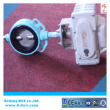 Elektrische actuator wafeltjetype vleugelklep zachte zetel bct-e-rbfv-12