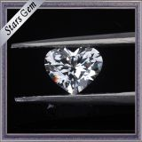 6X6мм Сердечка яркими отрезать белый куб обедненной смеси камни для мода Ювелирные изделия