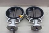 Vanne papillon anti-corrosive résiliente en caoutchouc de disque d'acier inoxydable d'enduit