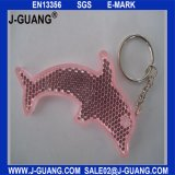 Розовая отражательная ключевая цепь (JG-T-16)