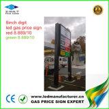 6 van de LEIDENE van de duim het Teken van de Wisselaar Prijs van het Gas (NL-TT15SF9-10-3R-Wit)