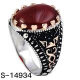 Fabrik heiß, 925 silberne Ring-neue Modell-Mann-Ringe mit grossem Stein verkaufend