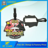 工場価格カスタマイズされたPVCゴム製袋付くか、または旅行Namel専門のTag/IDの札(XF-LT09)