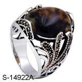 Venta caliente de fábrica 925 Anillo de Plata de nuevos modelos de los anillos de los hombres con grandes piedras.