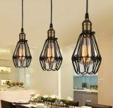 Metal romántica moderna cafetería de la luz de lámpara colgante decorativo