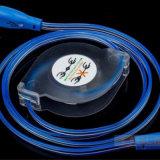 다채로운 LED 이동하는 점화 OEM 길이를 가진 OEM 로고 USB 케이블