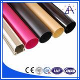 6063-T5 Tube en aluminium carré revêtu en poudre / tuyau en aluminium rectangulaire
