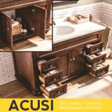 Hot Selling Good Quality Simple Style Armoires en vanité de salle de bain en bois massif (ACS1-W16)