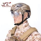 明確なバイザーモーター十字のヘルメットが付いているエマーソンExfの隆起の防風のヘルメット
