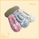 Soft Animal Kintted Foldable Ballet Dance Shoes para senhoras Meninas