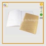 Qualitäts-Ausgabe-Notizbuch-Buch-Drucken in der Goldfarbe