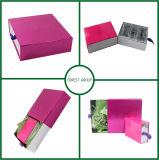 Rectángulo de empaquetado cosmético rosado colorido del cajón