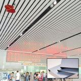 Teto de alumínio da tira da largura decorativa do teto 300mm para a estação