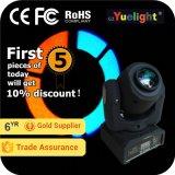 Yuelight 10W 4in1 RGBW Minipunkt-bewegliches Hauptlicht des gobo-Muster-LED